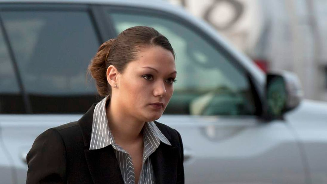 Nguyen arrives at Henrietta Town Court in Henrietta, New York