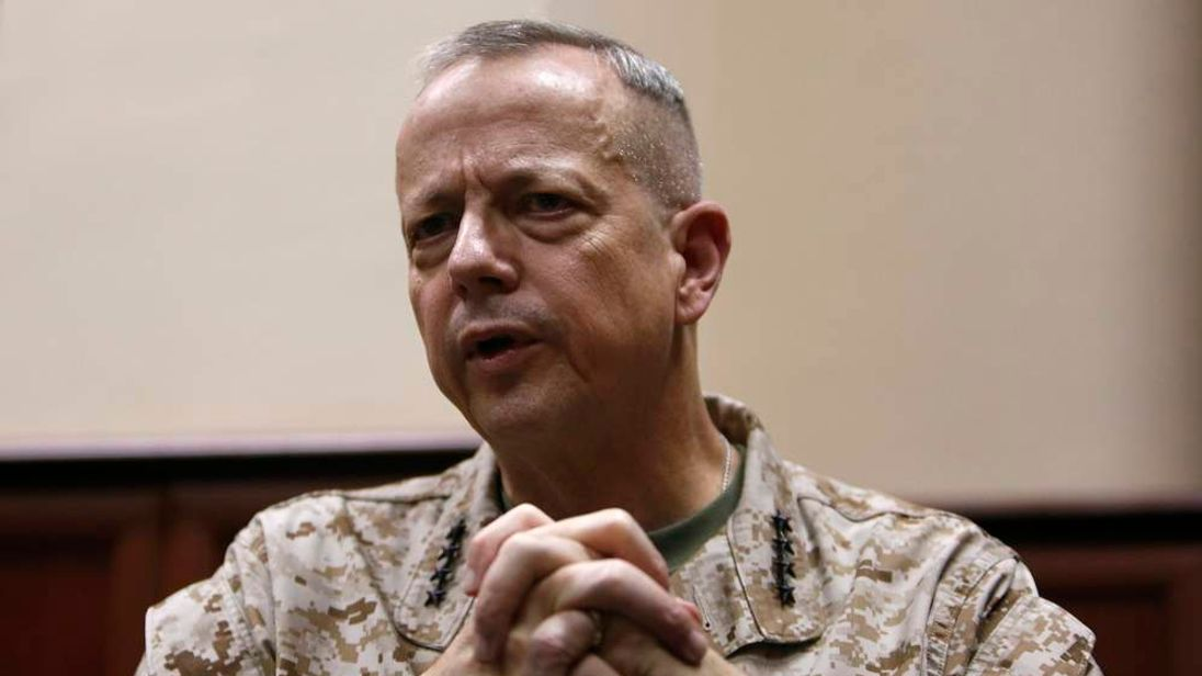 General Allen, the commander of U.S. and NATO forces in Afghanistan, speaks during an interview in Kabul