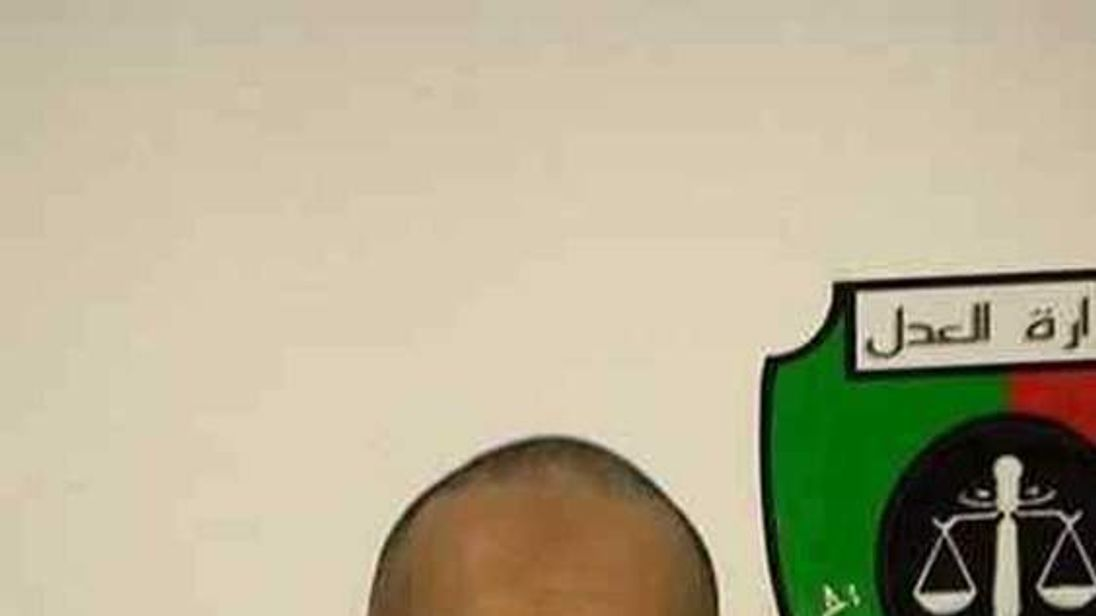 Handout photo shows Saadi Gaddafi, son of Muammar Gaddafi, inside a prison in Tripoli