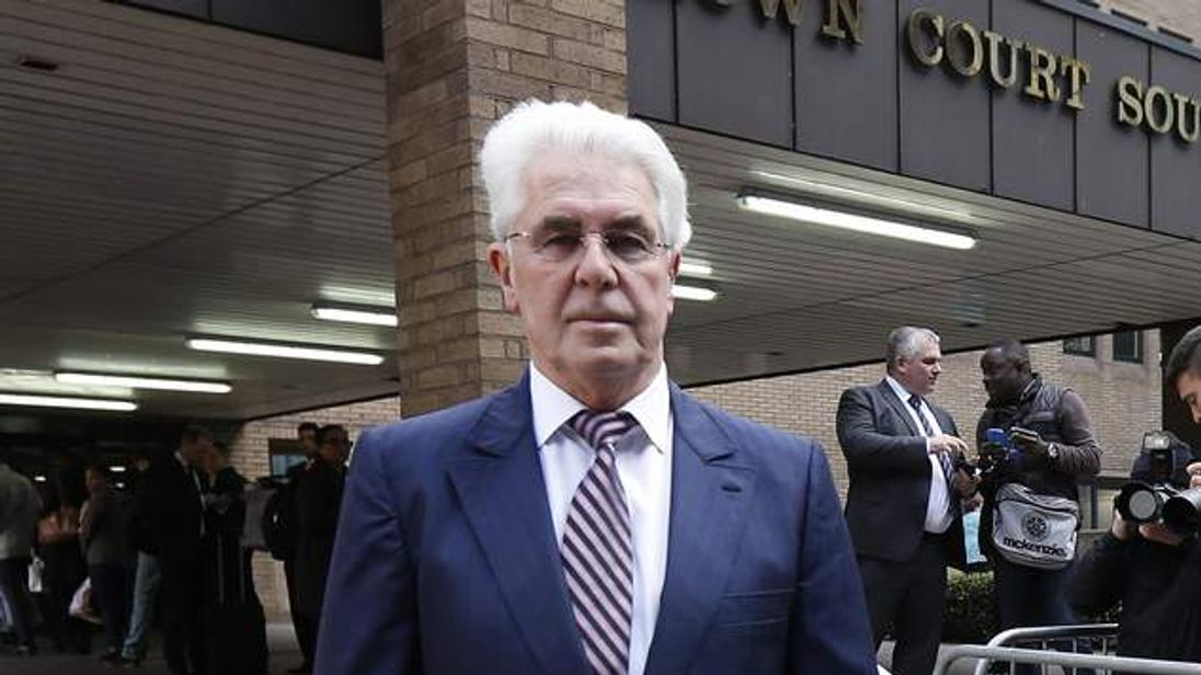 Max Clifford arrives for trial at Southwark Crown Court