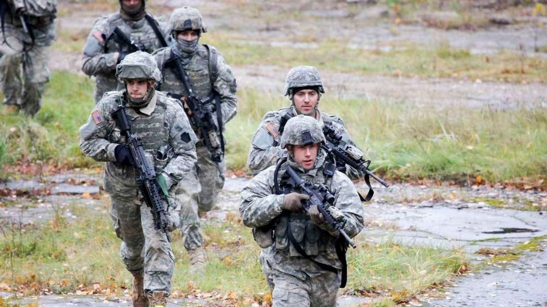 File photo of US Army soldiers training in Latvia