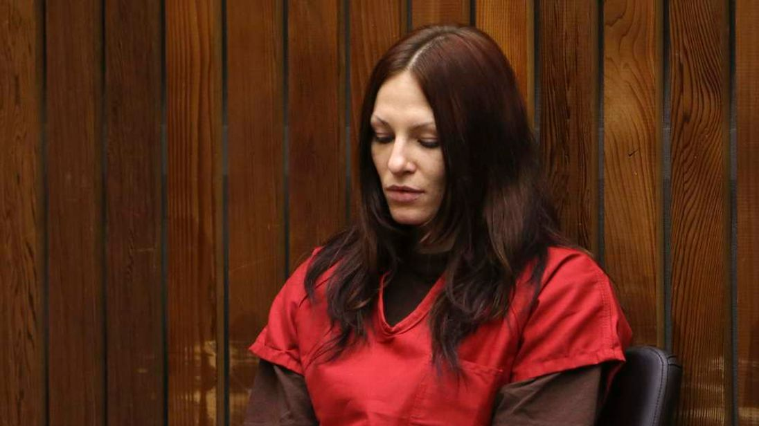 Alix Catherine Tichelman sits in the courtroom during her arraignment in Santa Cruz, California