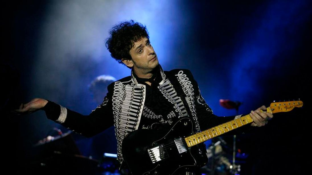 File photo shows Argentine singer Cerati performing during a free concert in Monterrey