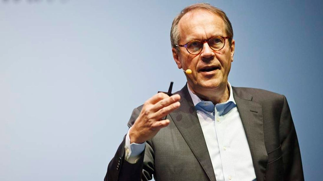 "Jorma Ollila, chairman of the Board of Royal Dutch Shell, speaks during the ""Slush"" event in Helsinki"