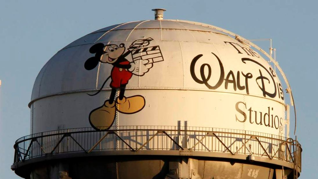 A view of the water tower at The Walt Disney Co in Burbank