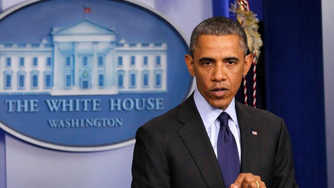 U.S. President Obama speaks to reporters from the White House in Washington