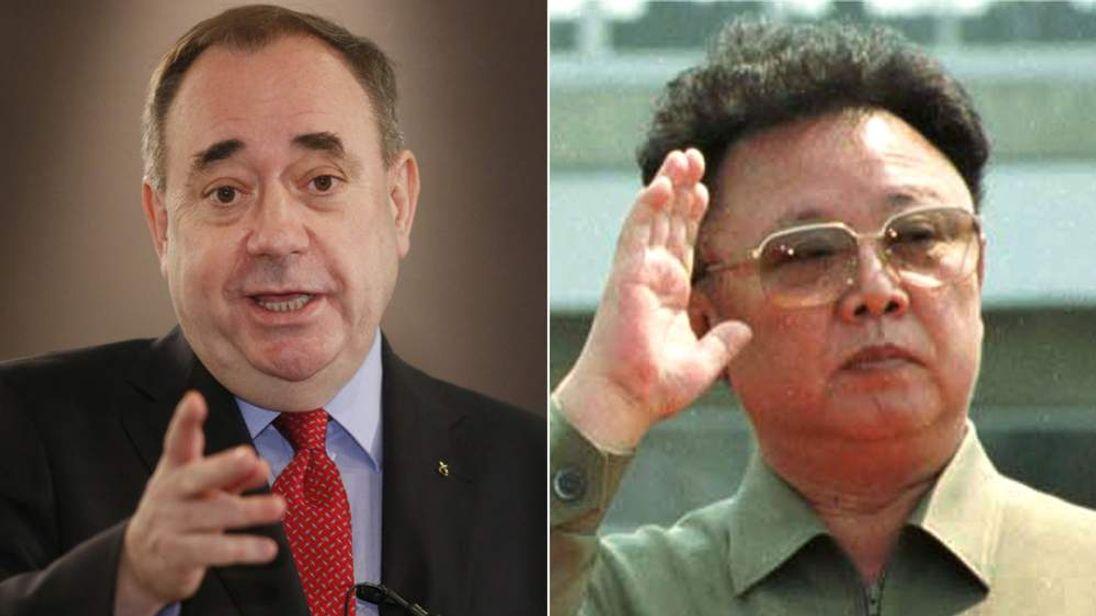 Alex Salmond and Kim Jong-il.