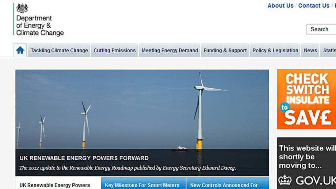 Department of Energy & Climate Change website