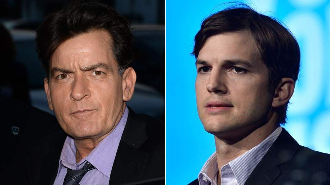Charlie Sheen and Ashton Kutcher
