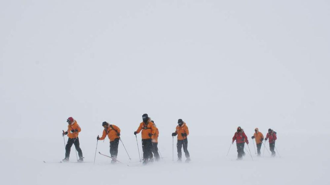 Prince Harry with Walking with the Wounded South Pole Allied Challenge teams