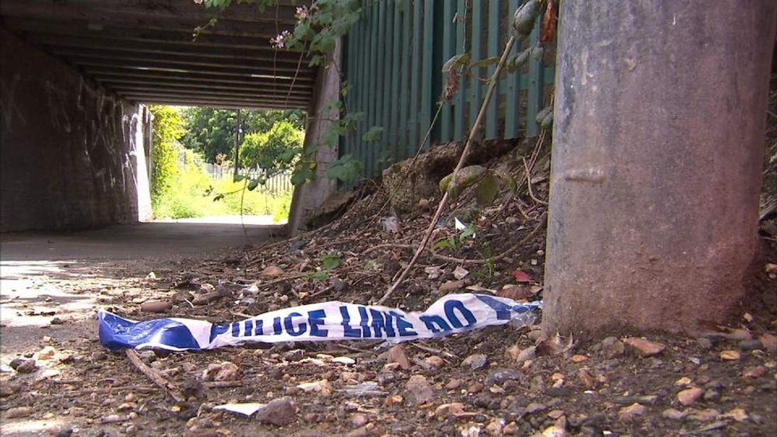 SLOUGH RAPE police tape