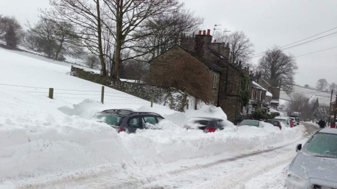 Snow in Rainow, Cheshire