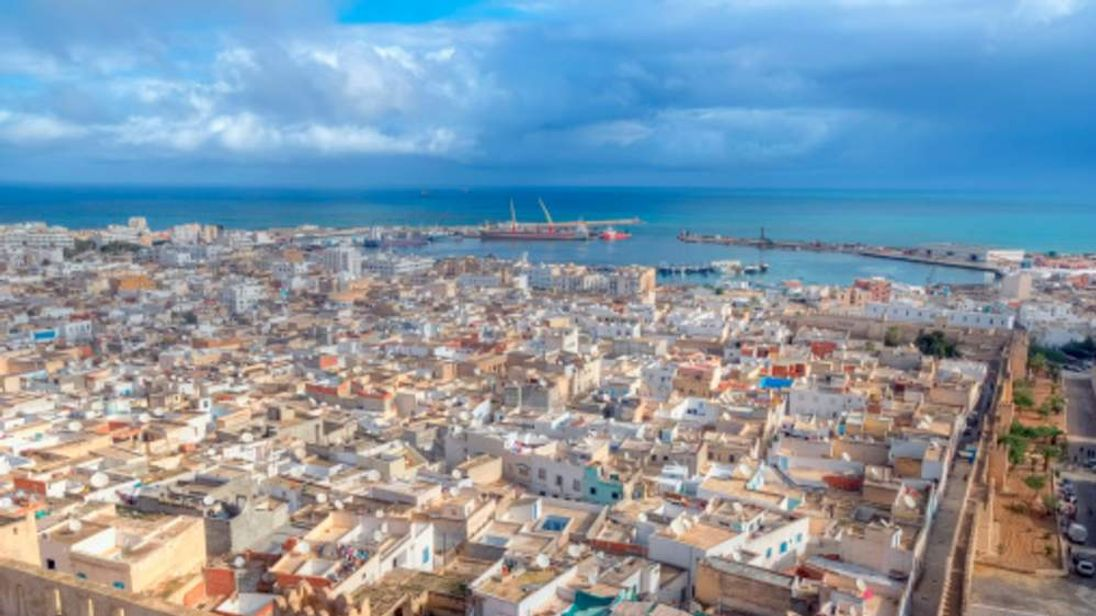 An aerial view of Sousse in Tunisia