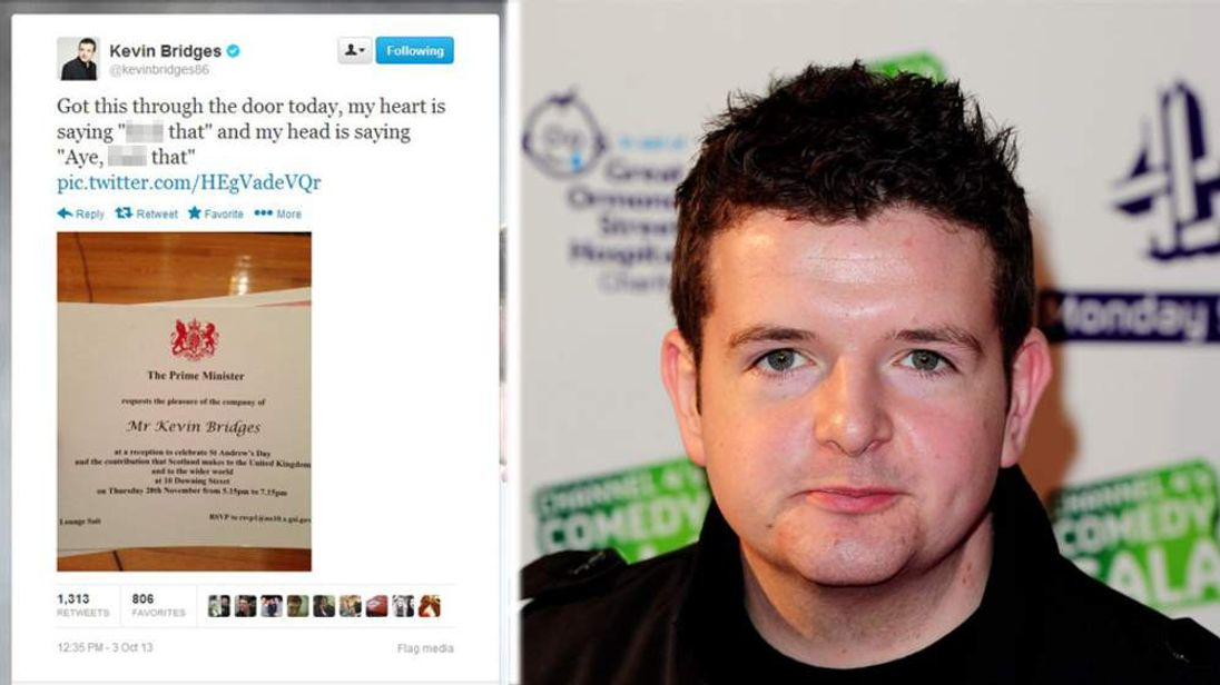 Kevin Bridges and his tweet