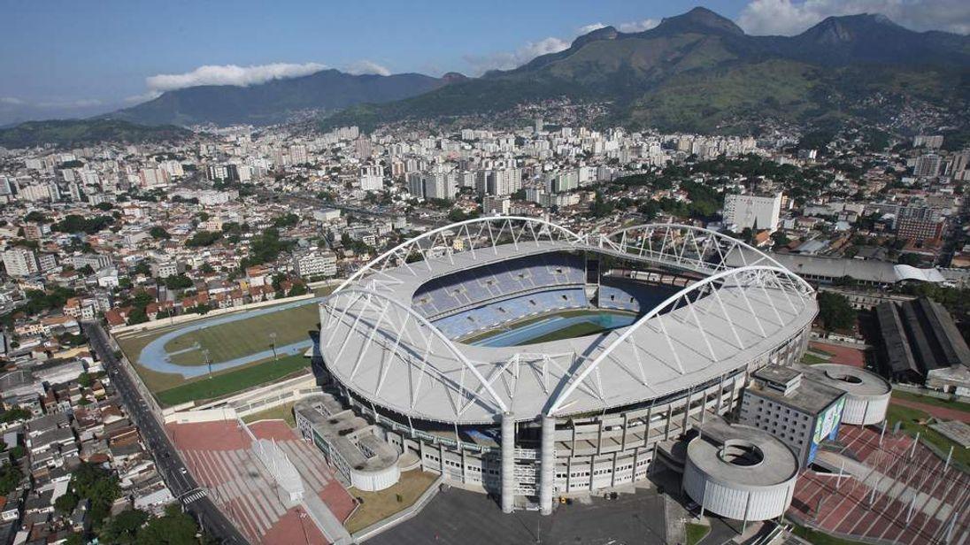 Aerial view of the Joao Havelange Olympic Stadium