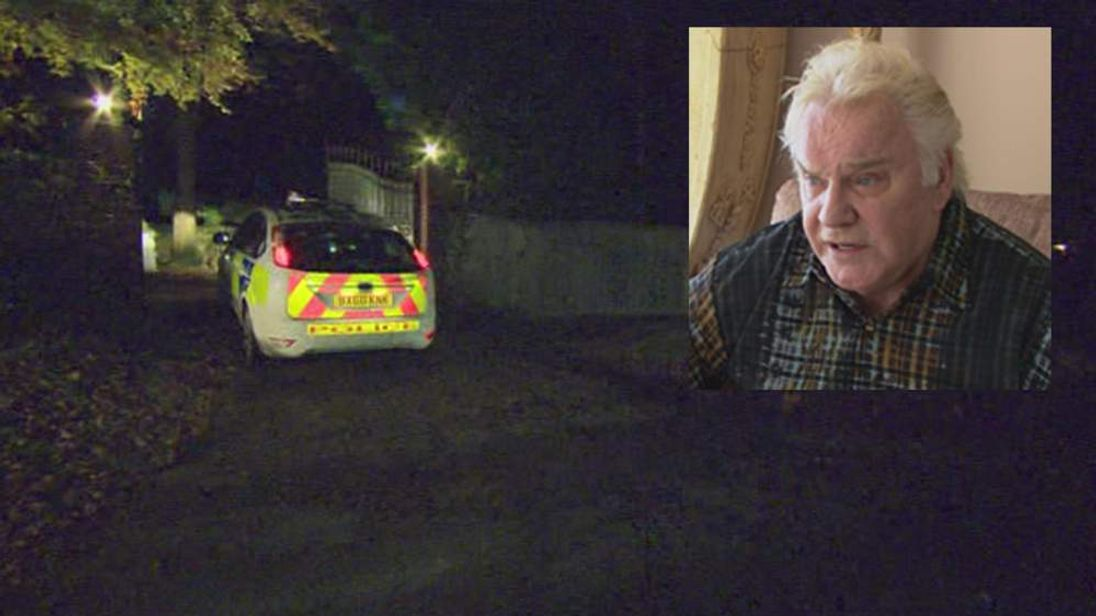 Police At Home Of Freddie Starr