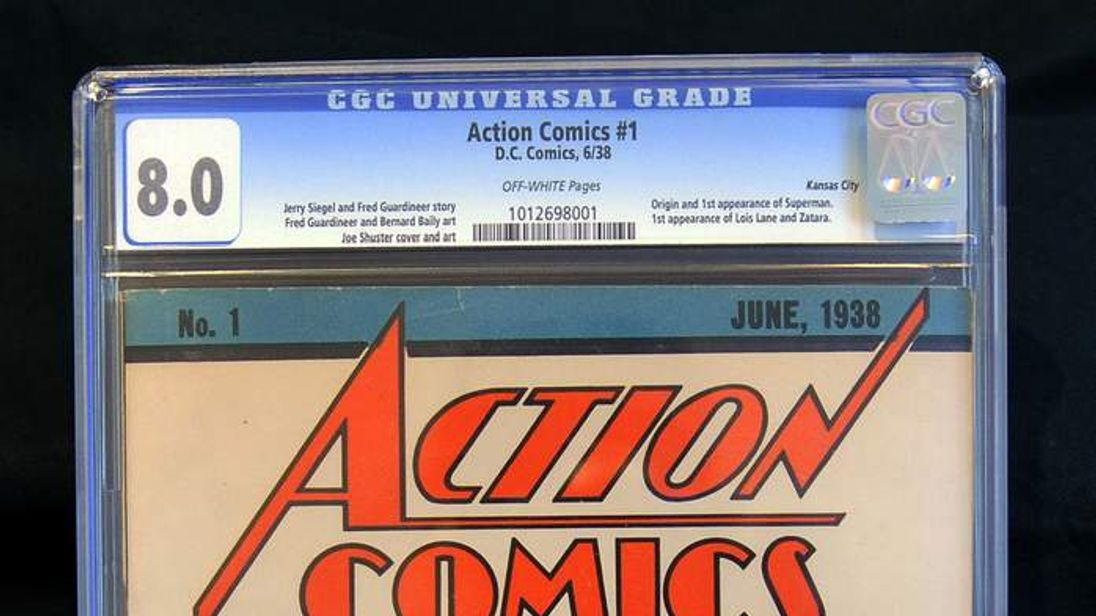 Action Comics #1 comic book of 1938