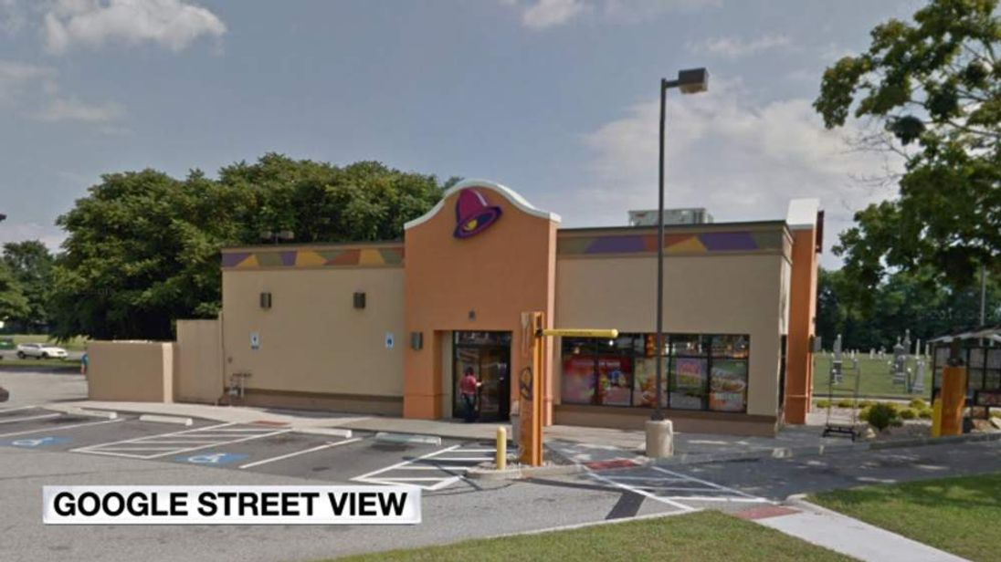 An employee of this Taco Bell is accused of shooting an angry customer with a BB gun