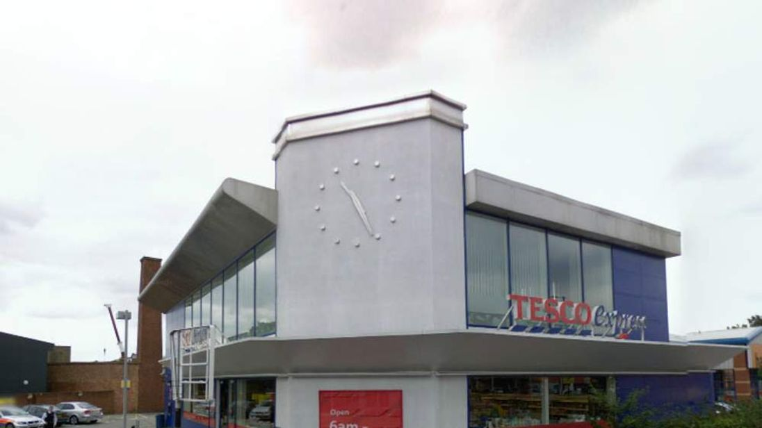 Google view of the Tesco Express