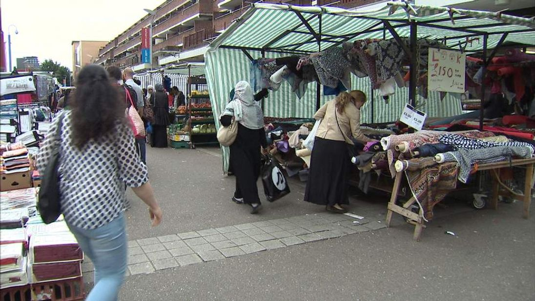 A market in the London Borough of Tower Hamlets.