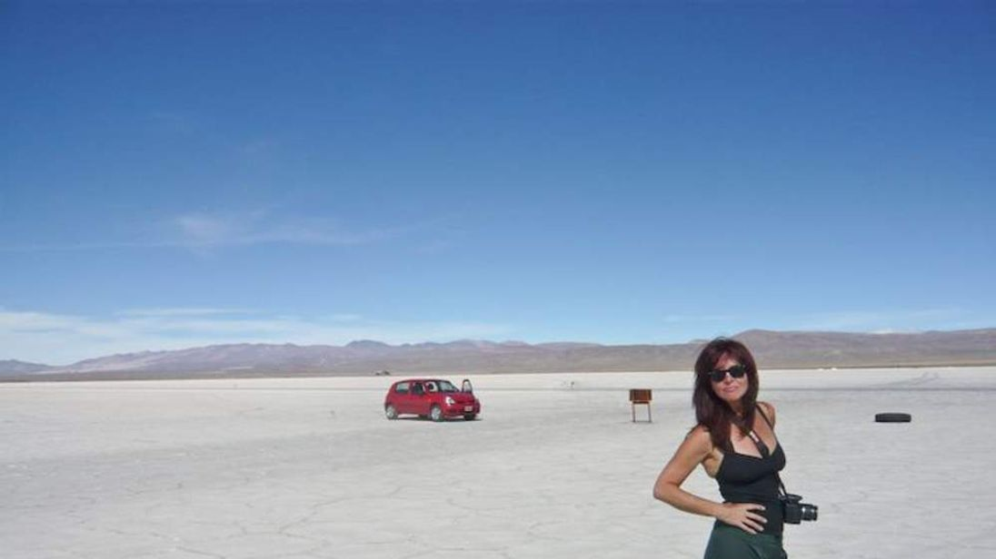 Tracy Johnson travelling in South America