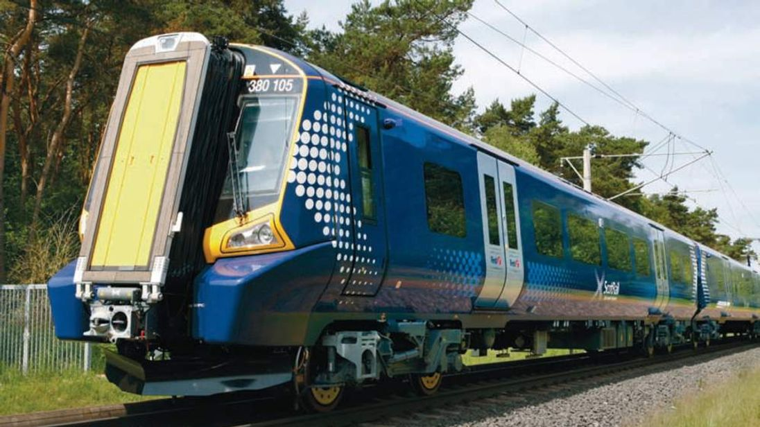A ScotRail class 380 train
