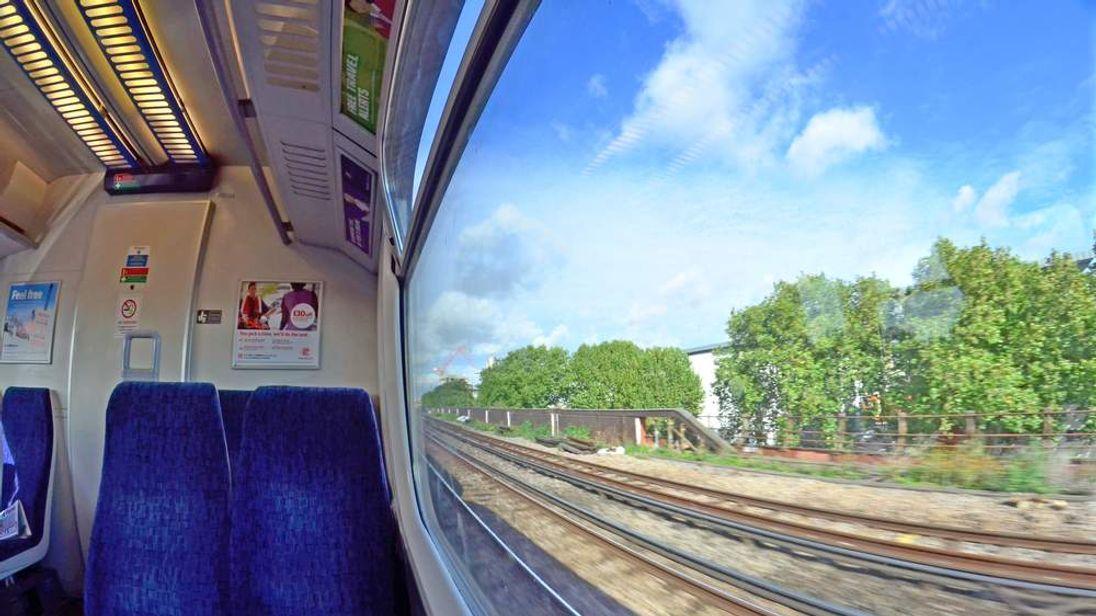 Transport generic train movement. Rail travel southeast London