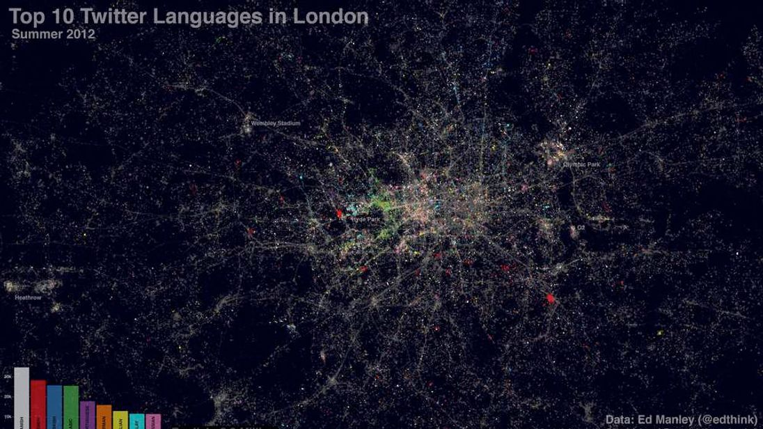 Top 10 Twitter Languages in London