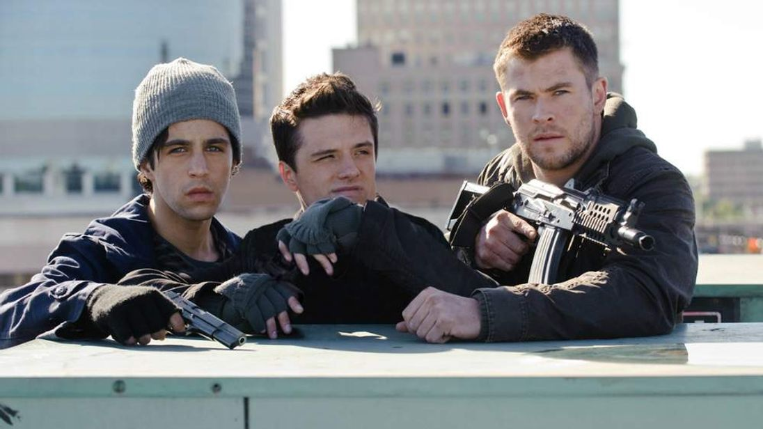 Red Dawn publicity image from MGM starring Chris Hemsworth