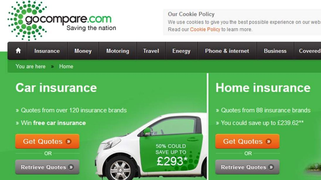 Go Compare website
