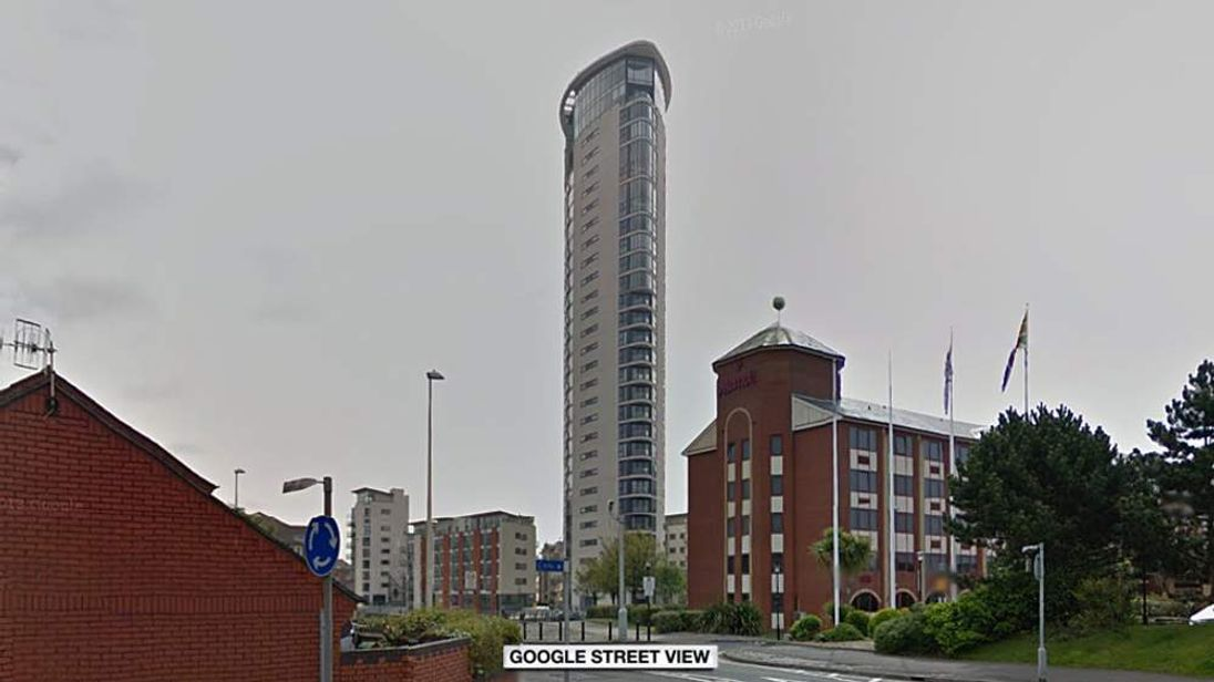 Meridian Tower in Swansea
