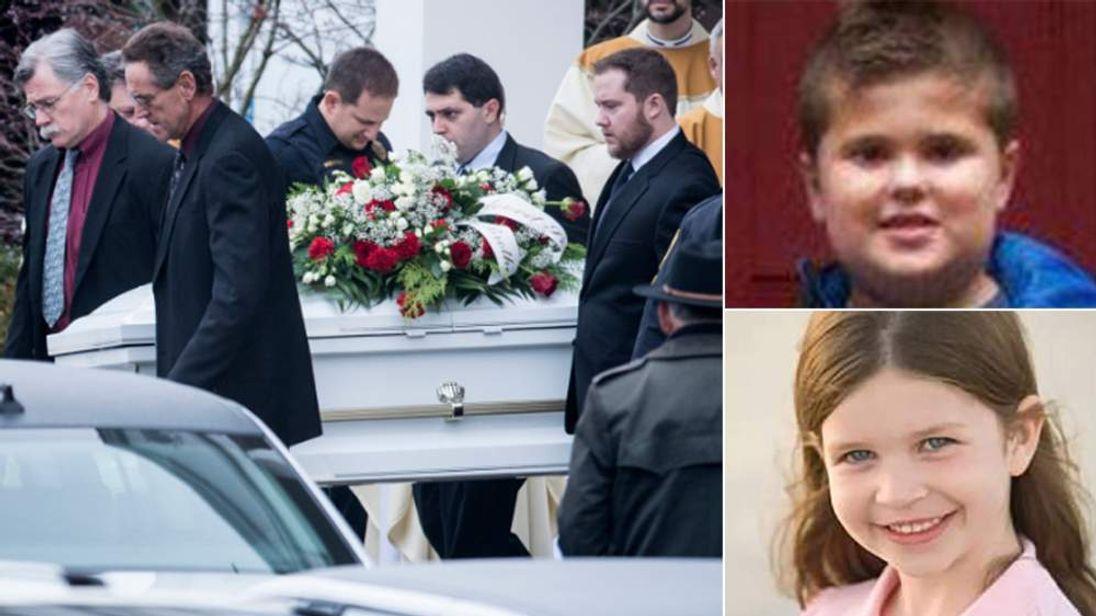 Funeral of James Mattoili. Jessica Rekos below right