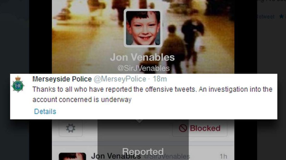 Offensive tweets sent to mother of James Bulger