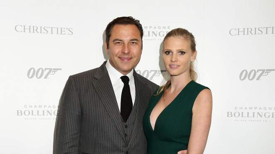 David Walliams and wife Lara Stone at Christie's 50 Years of James Bond Sal