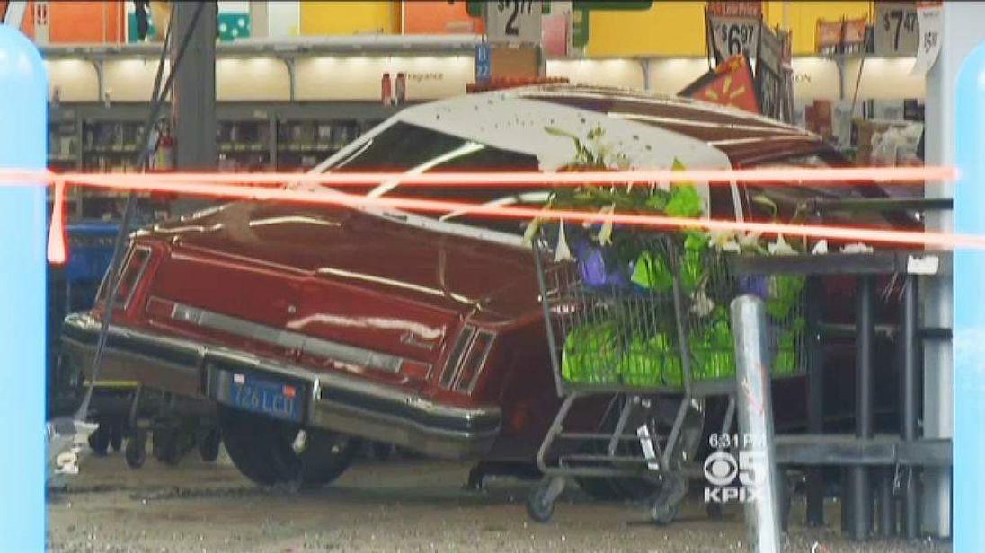 Wal-Mart Car Crash Pic: KPIX-TV