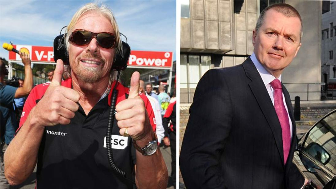 Virgin Atlantic's Sir Richard Branson and IAG's Willie Walsh