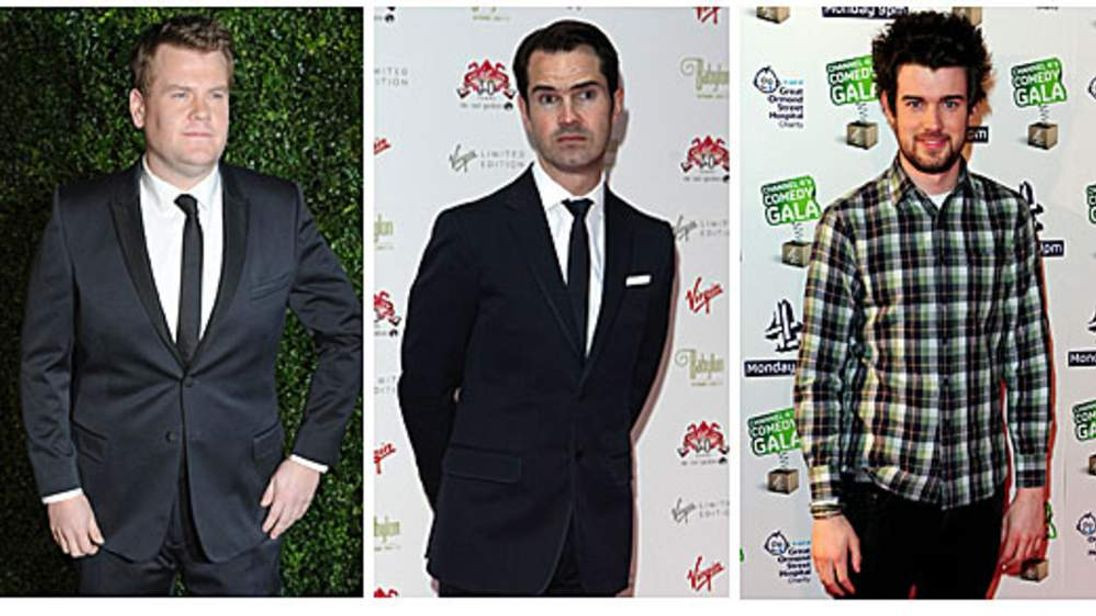 James Corden, Jimmy Carr and Jack Whitehall