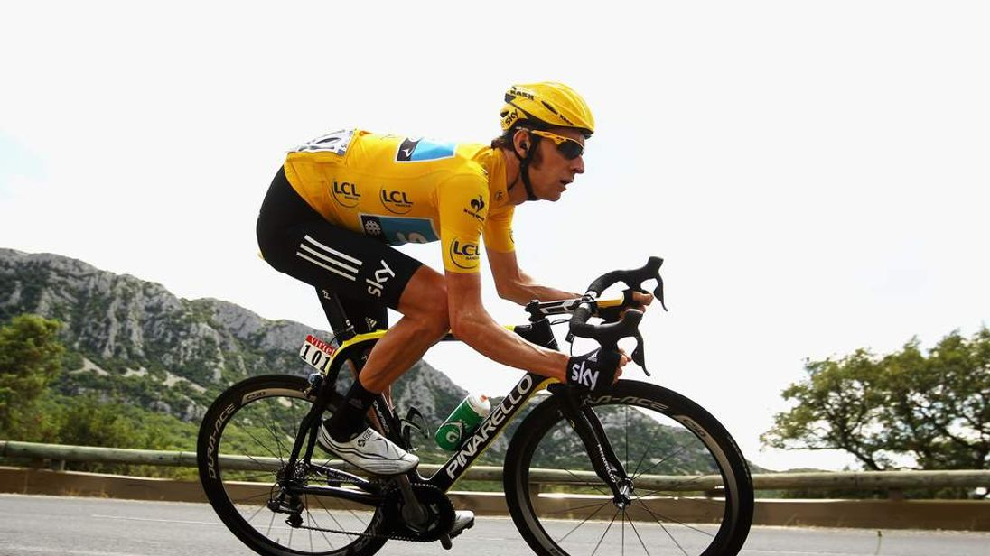 Bradley Wiggins In Action On Stage 13 Of The 2012 Tour De France