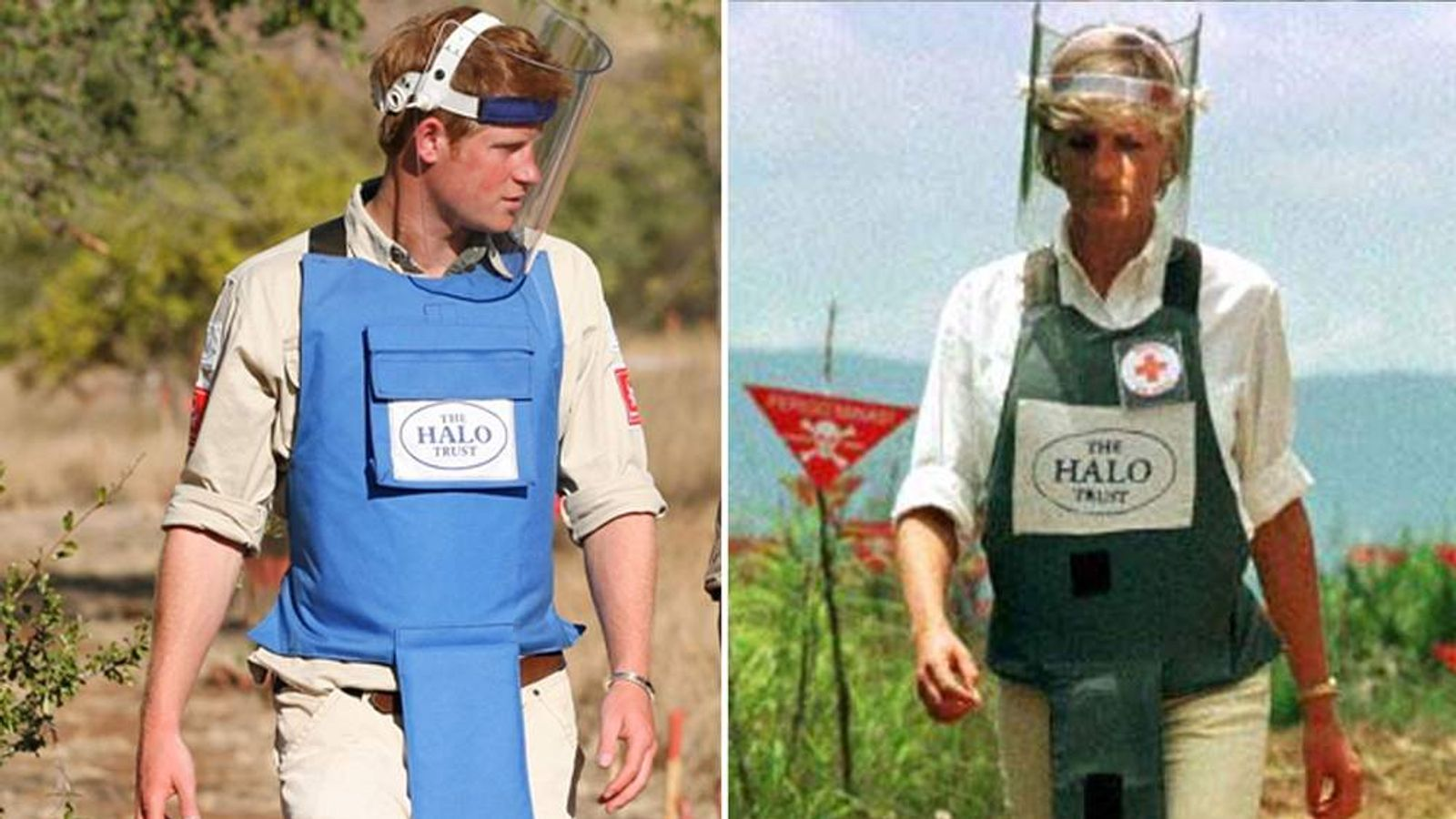 Prince Harry In Mozambique Visits Minefields Cleared By The HALO Trust