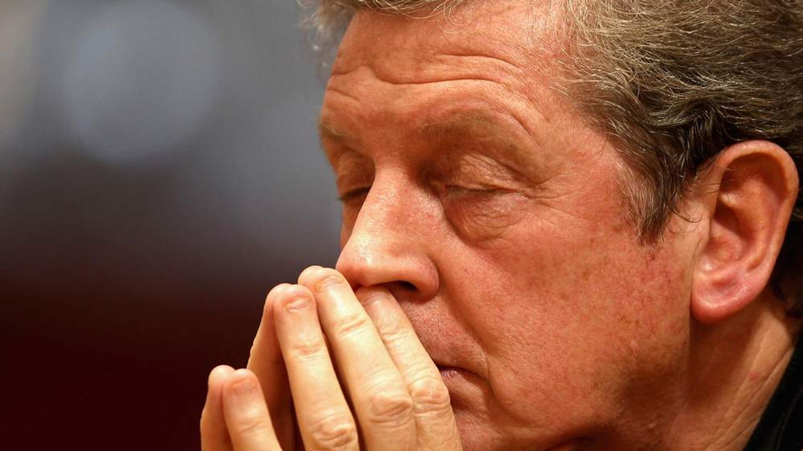 England Manager Roy Hodgson Eyes Closed