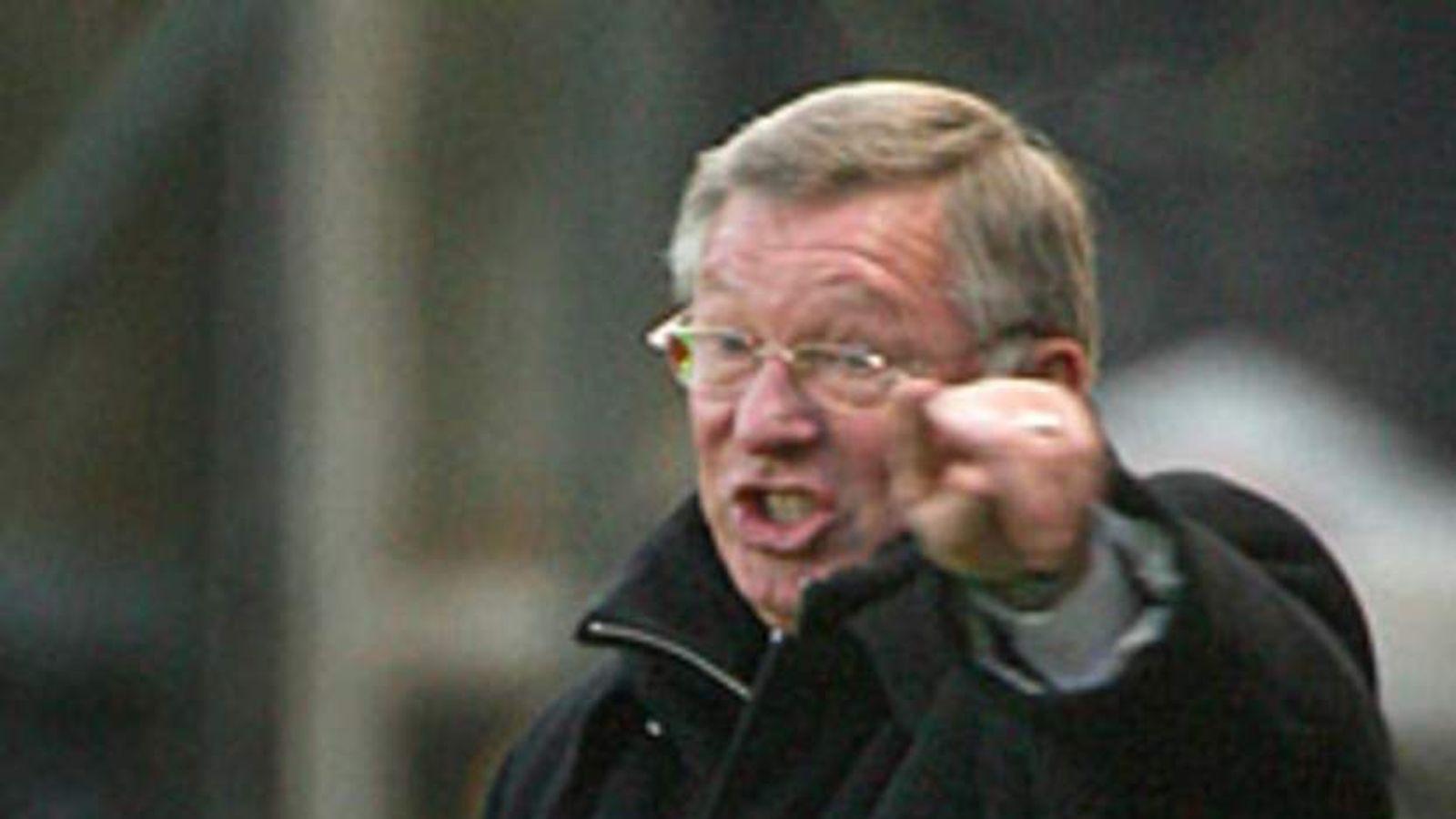 95 Sir Alex Ferguson ranting shouting angry