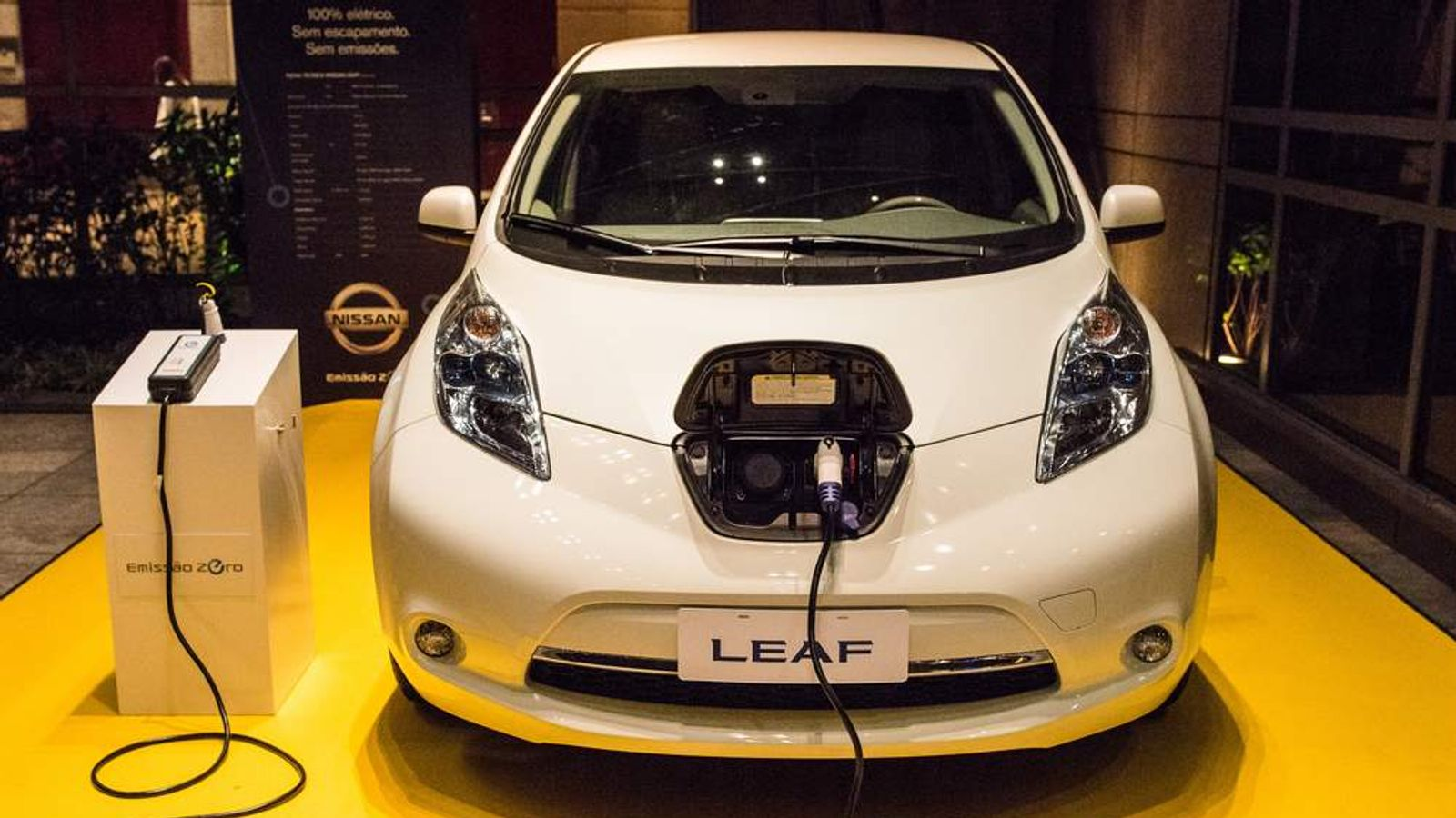 Nissan Leaf Electric Car zero emission vehicle