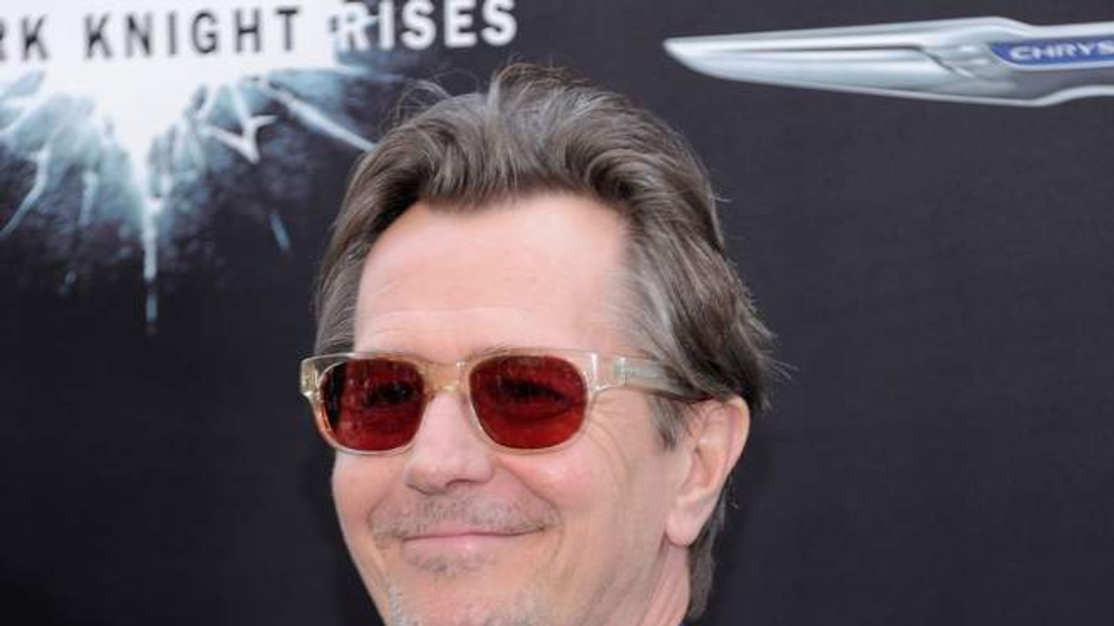 Gary Oldman attends the New York premiere of The Dark Knight Rises