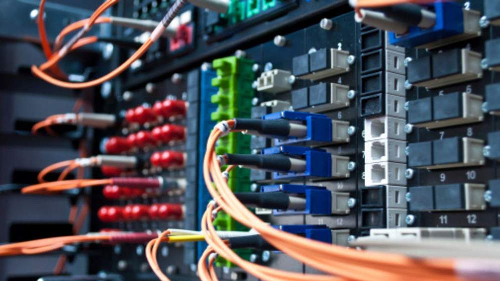 Fibre optic cables.