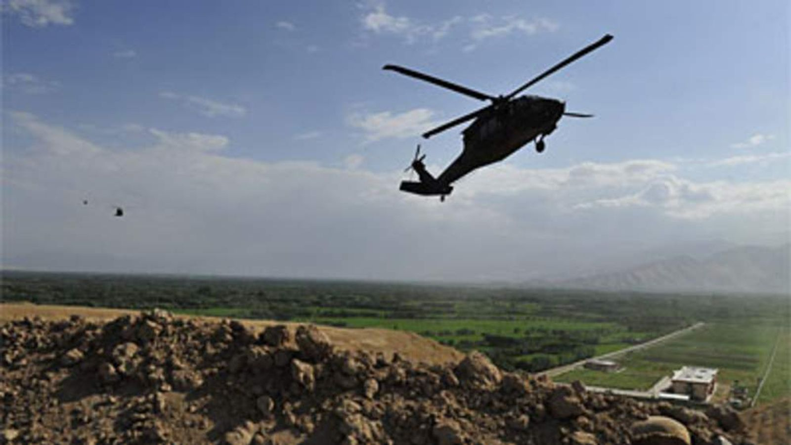 Black Hawk helicopter in Afghanistan
