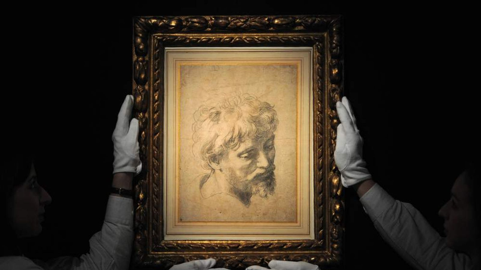 Raphael drawing Head of a Young Apostle fetches £29.7m at Sotheby's