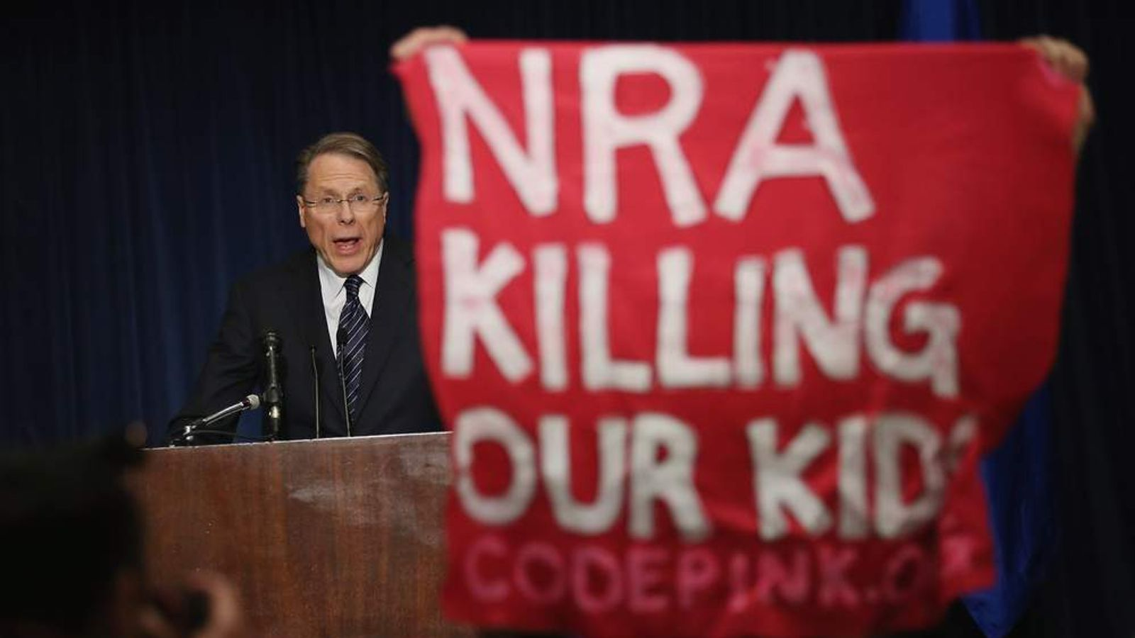 National Rifle Association Wayne LaPierre Holds News Conference In Wake Of Newtown School Shooting