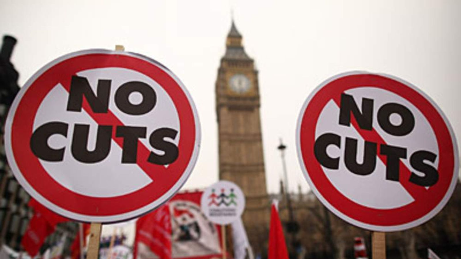 The TUC organised a march against spending cuts on March 26