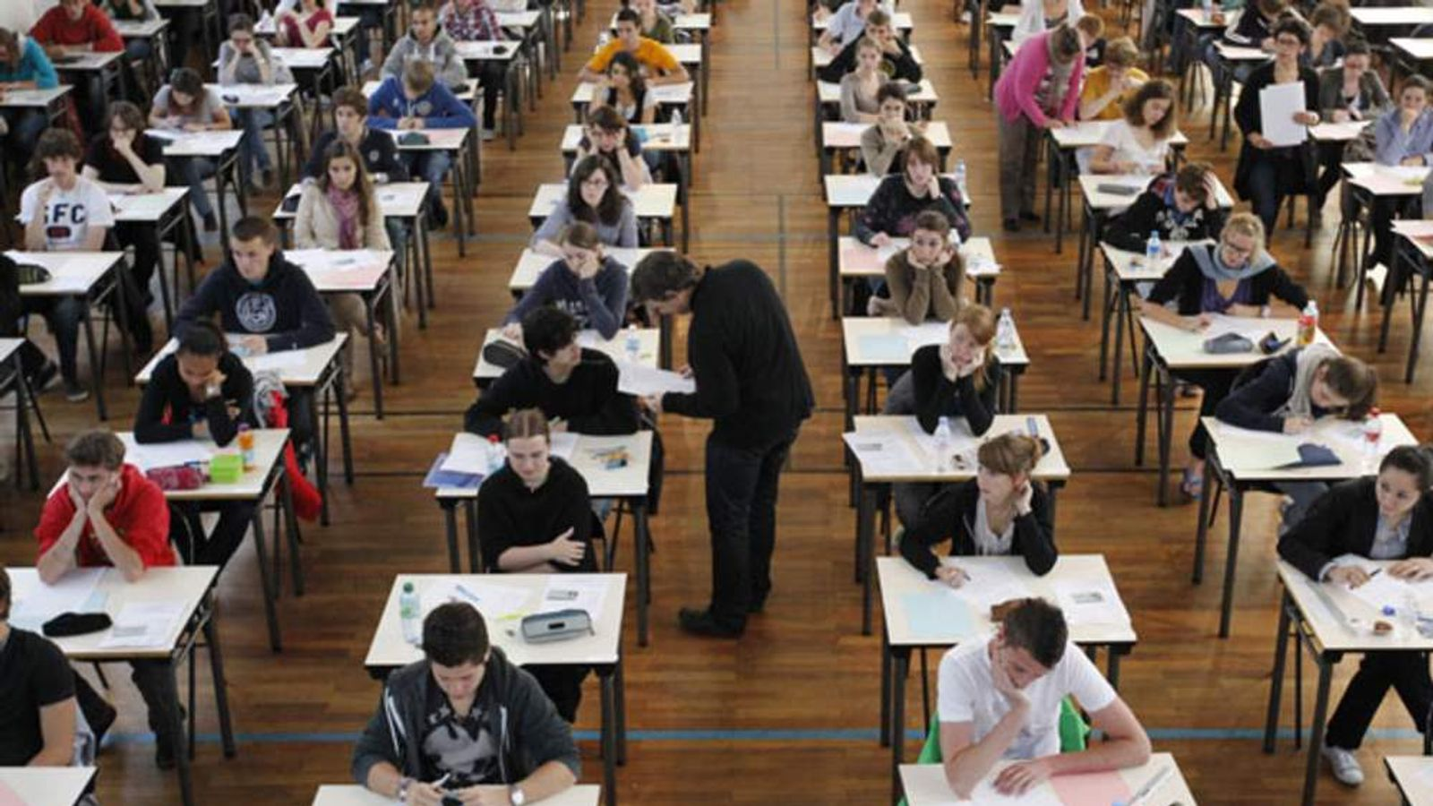 Students sit exams