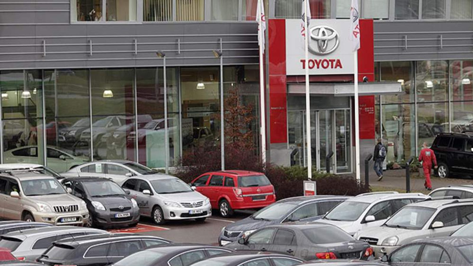 A Toyota car dealer sales room